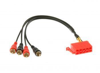 MDS 10 pinninen ISO – 4 x RCA uros Aux Adapteri