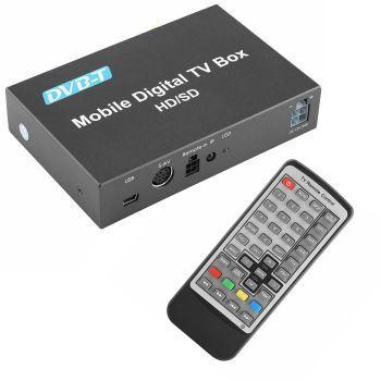 DVB-T Ajoneuvokäyttöön tarkoitettu 12V/24V Digiboksi