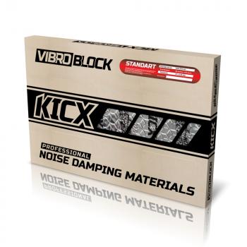 KICX STANDARD Butyylikumi / alumiin vaimennusmatto 2.25mm x 4.6m2